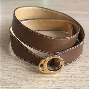 Vintage Gucci brown leather belt